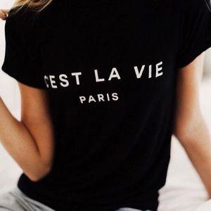 C'est La Vie Paris Custom Made T-shirt